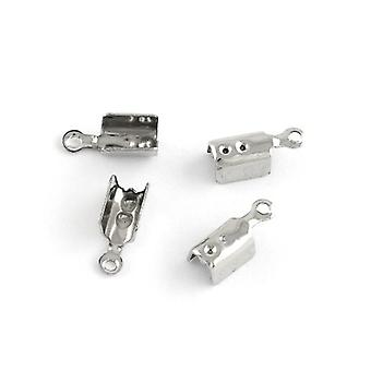 Pacote 20 x prata 304 inox tubo End Caps 3 x 10mm Y01665