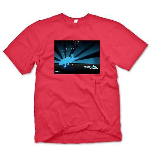 Mens T-shirt-Break Dance Street