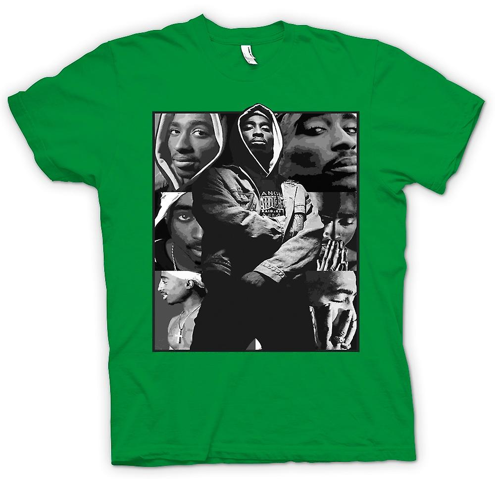 Mens T-shirt - Tupac Collage - Hip Hop