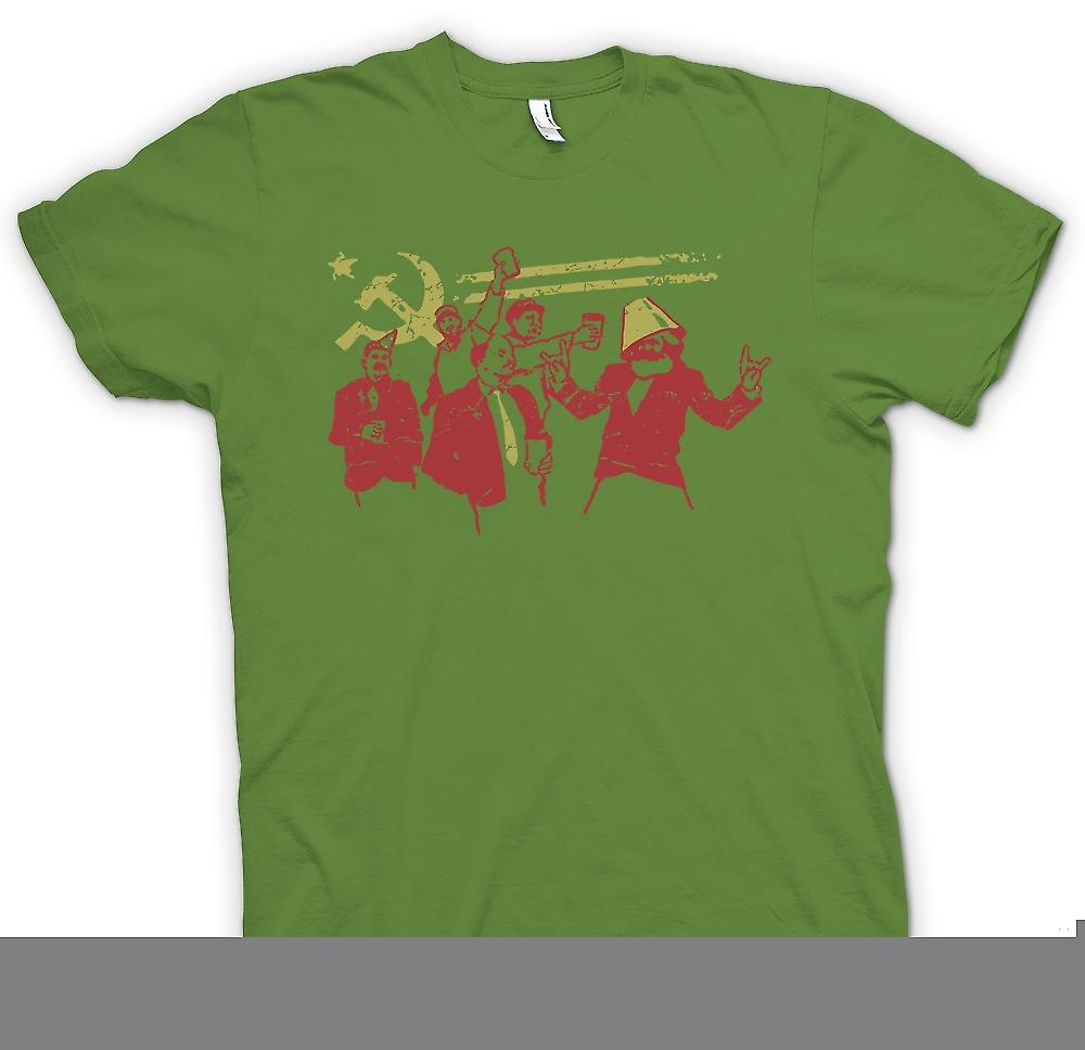 Mens T-shirt - Communism - Marx Lenin Stalin - Russia