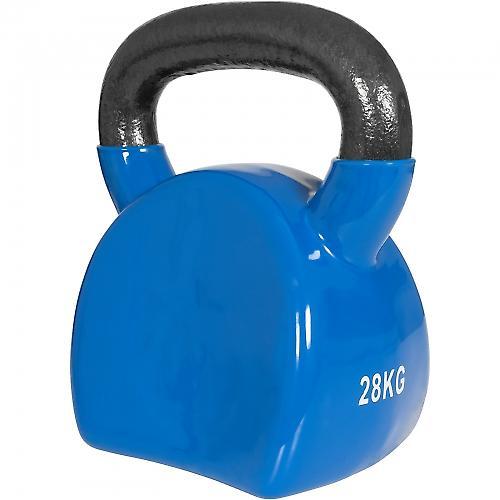 Ergonomique kettlebell en fonte avec revetement en vinyle de 28kg