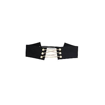 Lovemystyle Thick Choker With Triple Chain Clasp In Black