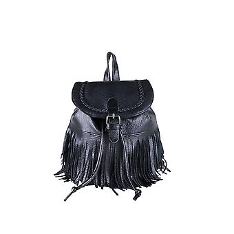 Lovemystyle Medium noir sac à dos avec franges