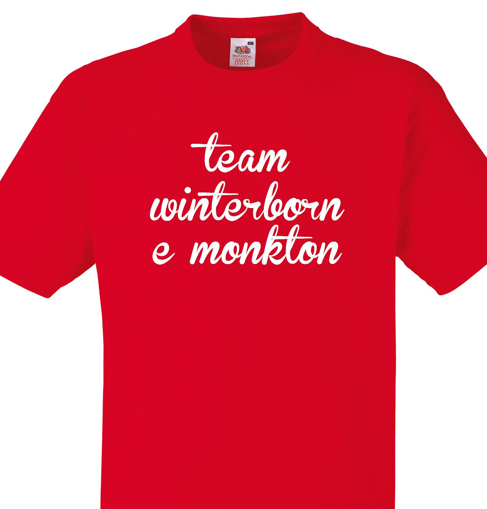 Team Winterborne monkton Red T shirt
