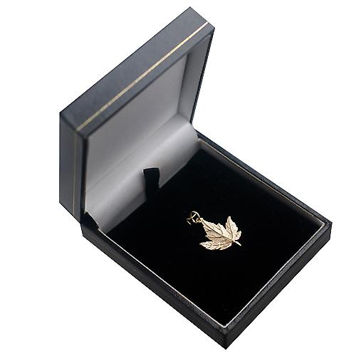 9ct Gold 22x19mm solid Maple Leaf Pendant or Charm