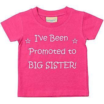 I've Been Promoted to Big Sister Pink Tshirt