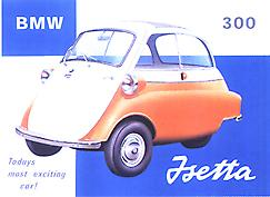 BMW Isetta Steel Sign