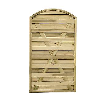 Forest Garden 6ft Europa Curved Wooden Gate