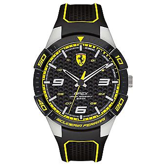 Scuderia Ferrari | Men's Apex | Black Rubber Strap | Black/Yellow Dial | 0830631 Watch