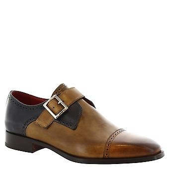 Leonardo Shoes Man's handmade monk shoes in multicolor calf leather