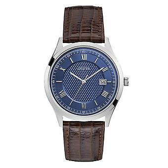 -Watch Guess ELEMENT W1182G1 steel case and Bracelet leather Fa I L lizard man