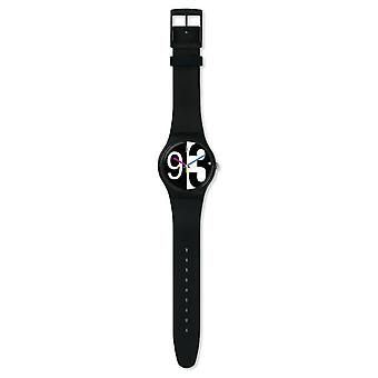 Swatch Suob141 Zoomzang Black Silicone Watch