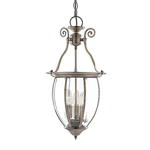 Searchlight 9501-3 Bowed Traditional Style Hall Lantern With Clear Bevelled Edge Glass