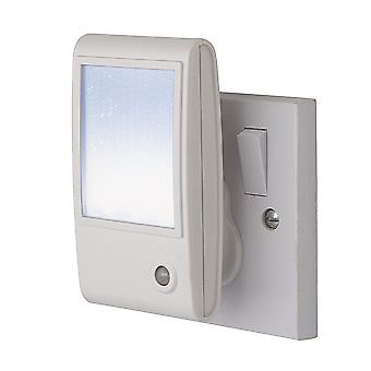 Firstlight-LED 1 Light Sparkle Night Light White, Weiß-8372WH