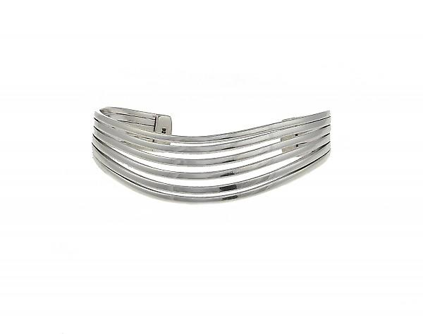 Cavendish français Sterling Silver Bangle Six de Split