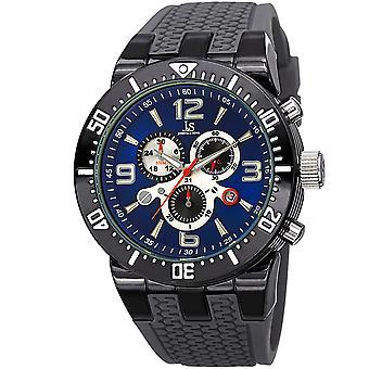 Joshua & Sons JS55 Men's Swiss Quartz Chronograph Date Silicone Strap Watch JS55GY