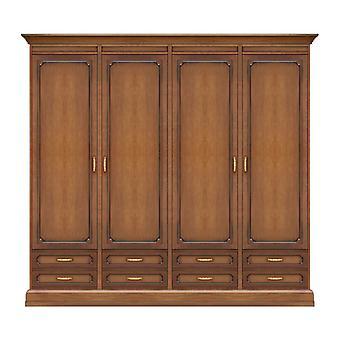 4 Doors wardrobe and 8 modular drawers