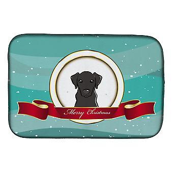 Carolines trésors BB1545DDM Labrador noir joyeux Noël plat Mat de séchage