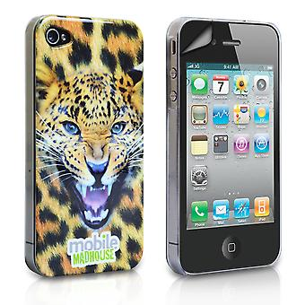 YouSave Accessories iPhone 4 4S Leopard IMD Hard Hybrid Case
