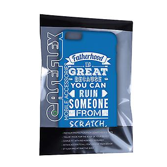 Caseflex Fatherhood Funny Quote iPhone 6 and 6s Plus Case – Blue