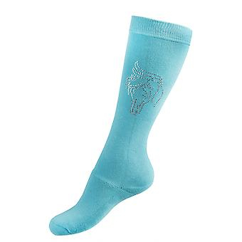 Horka Crystal Horse Womens Socks - Tropical Green