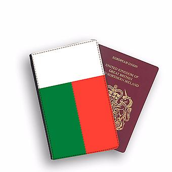 MADAGASCAR Flag Passport Holder Style Case Cover Protective Wallet Flags design