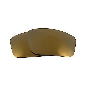 Replacement Lenses Compatible with OAKLEY Square Wire (2006) Gold Mirror