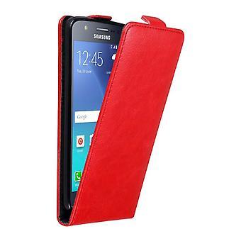 Cadorabo Hülle für Samsung Galaxy J5 2015 Case Cover - Handyhülle im Flip Design mit Magnetverschluss - Case Cover Schutzhülle Etui Tasche Book Klapp Style