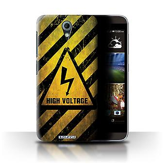 STUFF4 Case/Cover for HTC Desire 820 Mini/High Voltage/Hazard Warning Signs