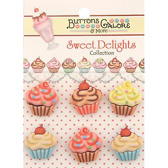 Sweet Delights Buttons Cupcakes Sd 100