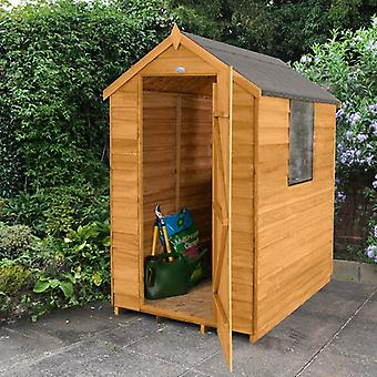 Forest Garden 4 x 6 Overlap Apex Compact Garden Shed