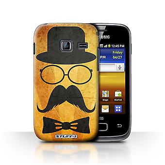 STUFF4 Case/Cover for Samsung Galaxy Y Duos/S6102/Handlebar/Glasses/Retro Moustache