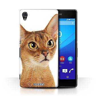STUFF4 Case/Cover for Sony Xperia Z4v/E6508/Abyssinian/Cat Breeds