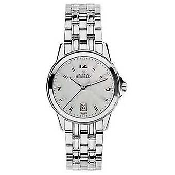 Michel Herbelin Ambassador Womans Stainless Steel City Mother Of Pearl Dial 14250/B19 Watch