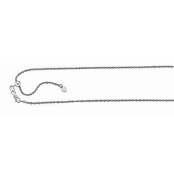 925 Sterling sølv Rhodium finish 1,5 mm Sparkle-cut justerbar Sparkle Chain hummer låsen anklet