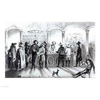 The Bar of a Gambling Saloon Poster Print