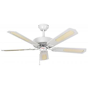 Ceiling Fan Classic White with pull cord 132 cm / 52