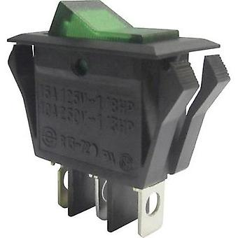 Toggle switch 250 Vac 10 A 1 x Off/On SCI R13-72B-01 GREEN latch 1 pc(s)