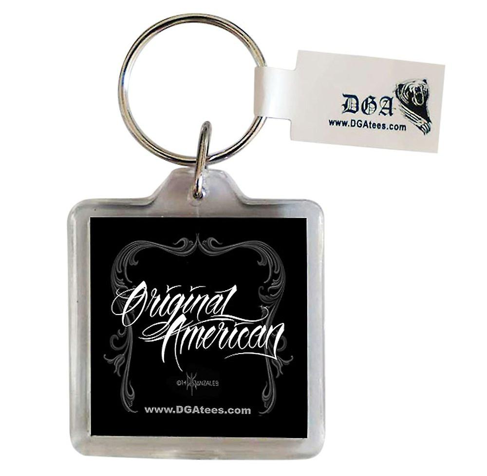 DGA Tees Original American Keychain Keyring Accessory Skull Native Feathers