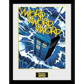 Doctor Who Tardis Comic inramade Collector Print