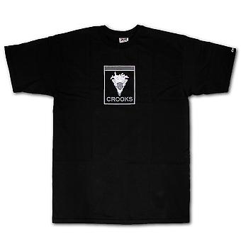 Crooks & Castles Slanging T-shirt Black