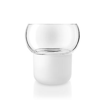 Eva solo Orchid pot self bewaessernd frosted glass D 13 cm