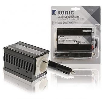Sinusoïde modifiée de König Power Inverter 12 VDC-ca 230 V, 150 W F (CEE 7/3) / USB