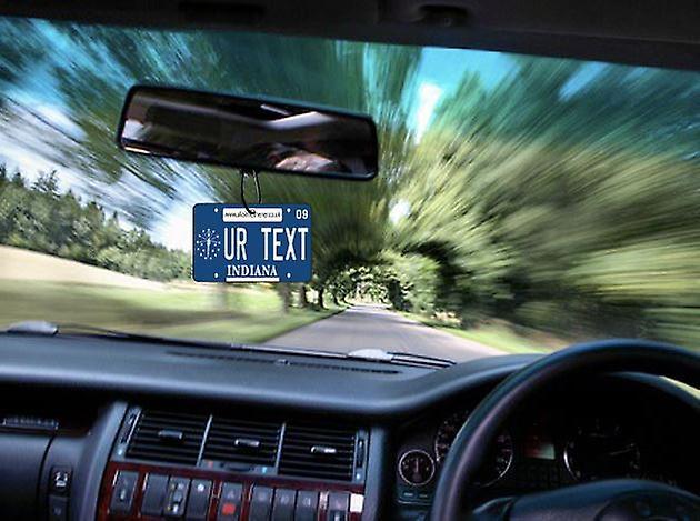 Gepersonaliseerde Indiana Kentekenplaat auto luchtverfrisser