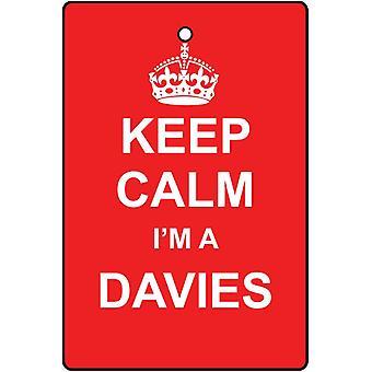 Keep Calm jeg en Davies bil luftfriskere