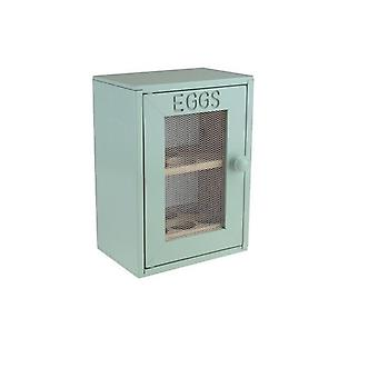 Hevea Wooden 12 Egg 2 Tier Cabinet Cupboard Mint Colour