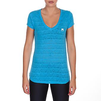 Venum Women's Essential V-Neck Athletic T-Shirt - Blue