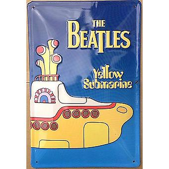 The Beatles Yellow Submarine embossed steel sign    (hi 3020)