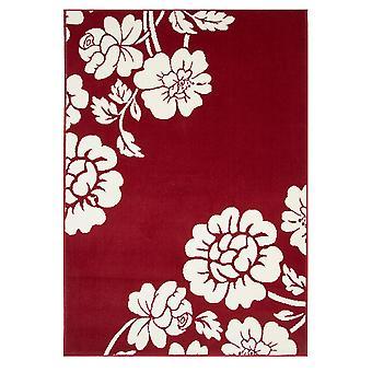 Peonia rossa corridore moderno tappeto Milano
