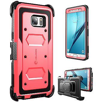 i-Blason-Galaxy Note 7 caso Armorbox Fullbody caso-rojo
